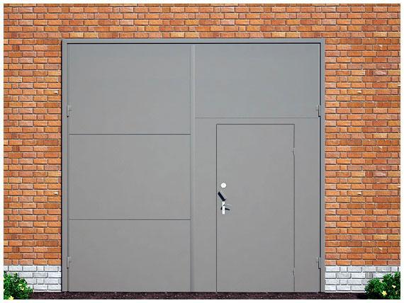 распашные ворота и двери металлические